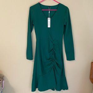 Emerald green interview dress, size small